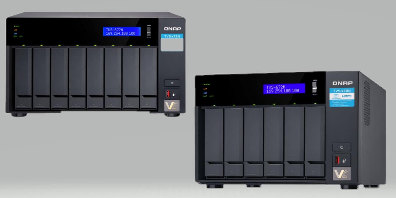 TVS-x72N, los nuevos NAS de Qnap con Intel Core i3, HDMI 2.0 y puerto 5GBASE-T