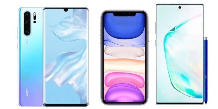 Imagen - Comparativa: notch del iPhone 11 vs Galaxy Note 10 vs P30 Pro