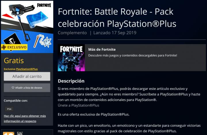 Imagen - PlayStation Plus regala nuevos accesorios de Fortine a sus suscriptores