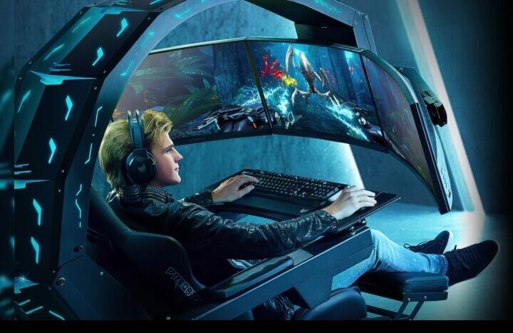Imagen - Acer Predator Thronos Air, la cabina gaming para 3 monitores con masaje incluido