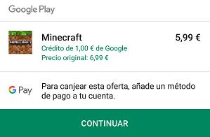 Imagen - Google Play regala 1 euro para comprar aplicaciones