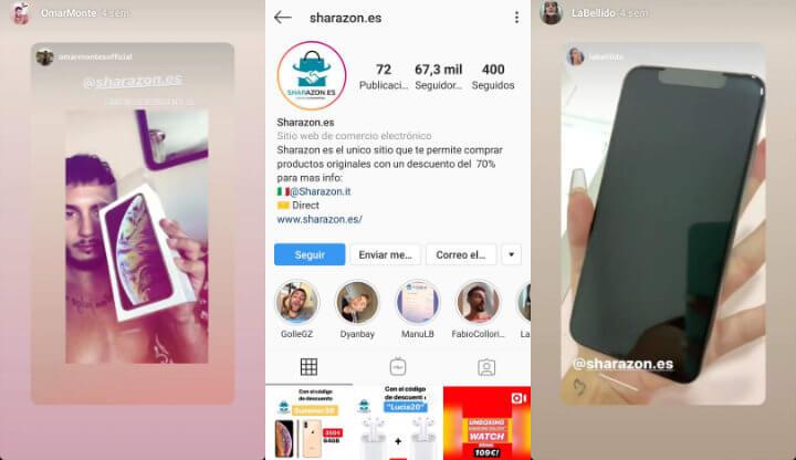 Imagen - Cuidado con Sharazon, la tienda que ofrece iPhones baratos en Instagram