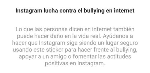 Imagen - Instagram lanza un sticker para luchar contra el bullying