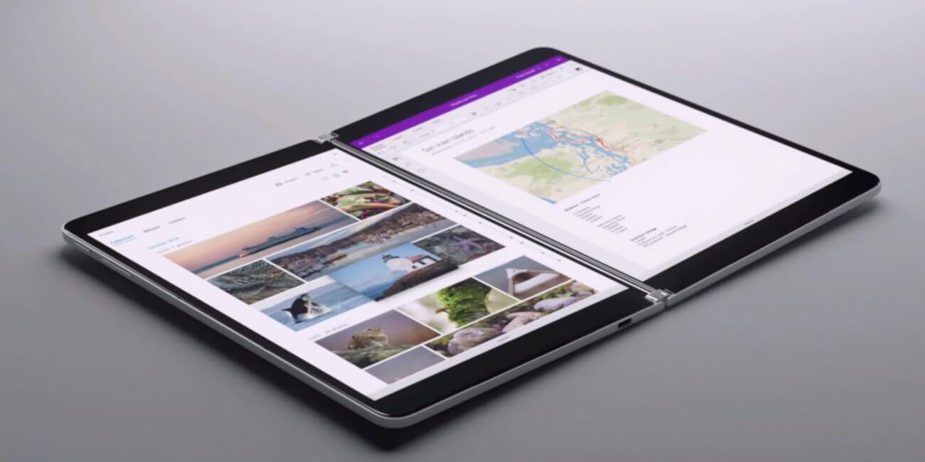 Microsoft Surface Neo: dos pantallas, diseño plegable y teclado físico