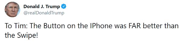 """Imagen - Trump critica a Apple: """"El botón Home del iPhone era mucho mejor que los gestos"""""""