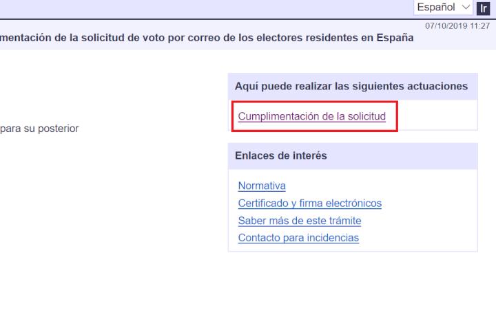 Imagen - Cómo pedir online el voto por correo