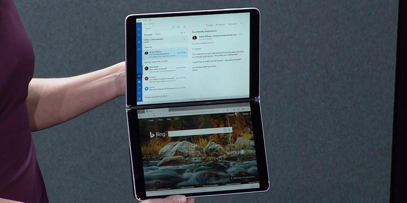 Windows 10X, la versión para dispositivos con dos pantallas