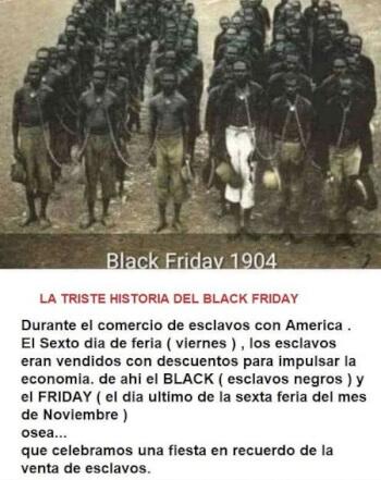Imagen - Comercio con esclavos negros, un bulo sobre el origen del Black Friday circula en WhatsApp