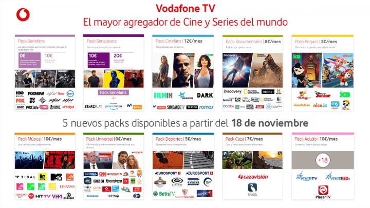 Imagen - Vodafone TV añade packs con canales de música, deporte, caza, internacionales y más
