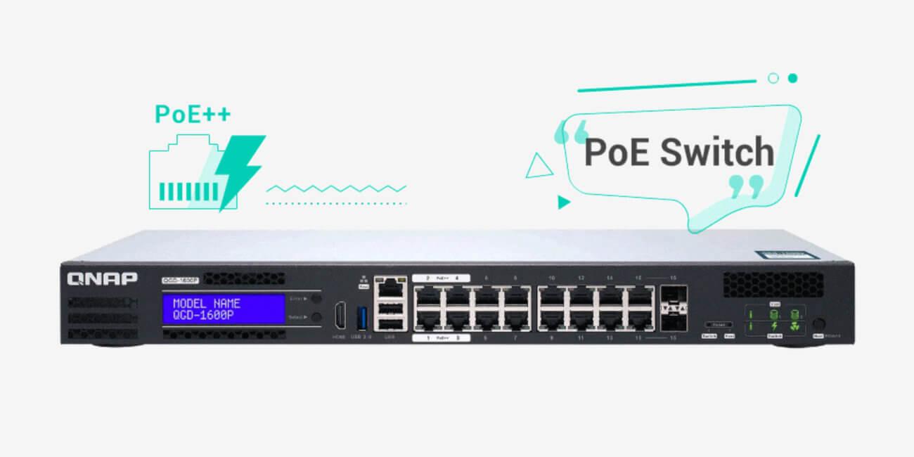 QNAP QGD-1600P: almacena datos y ejecuta máquinas virtuales en un switch PoE