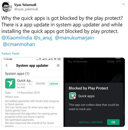Imagen - Google Play Protect advierte de que la app Quick Apps podría estar espiándote