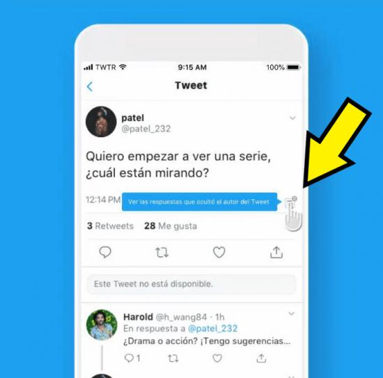Imagen - Twitter ya te permite ocultar las respuestas a tus tweets