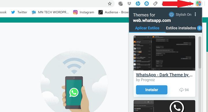 Imagen - Cómo conseguir el modo oscuro en WhatsApp Web