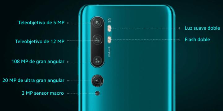 Imagen - Xiaomi Mi Note 10 llega a España: el móvil con 5 cámaras y 108 megapíxeles