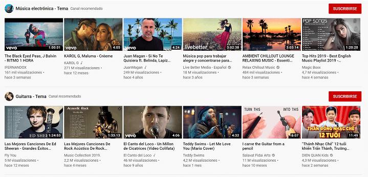 Imagen - YouTube rediseña su página de inicio con miniaturas más grandes
