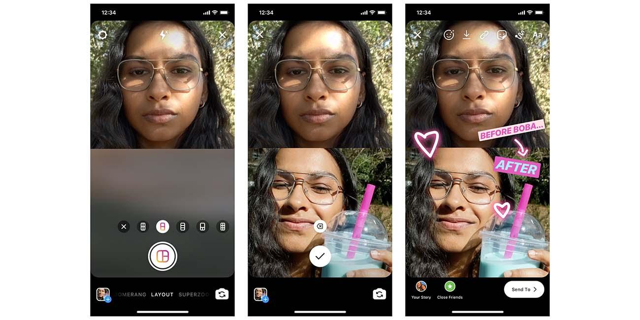 """Instagram añade el modo """"Diseño"""": crea collages en tus Stories"""