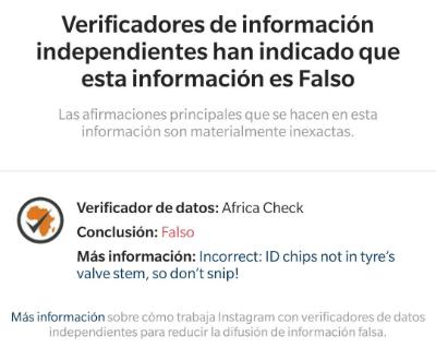 Imagen - Instagram ahora indica si una información es falsa