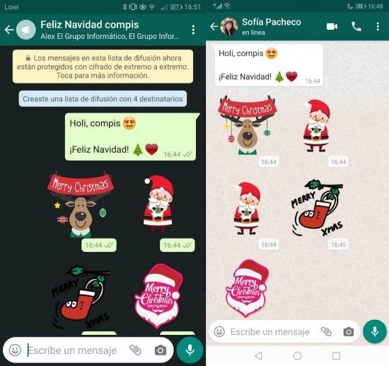 Imagen - Cómo felicitar la Navidad a todos tus contactos de WhatsApp fácilmente