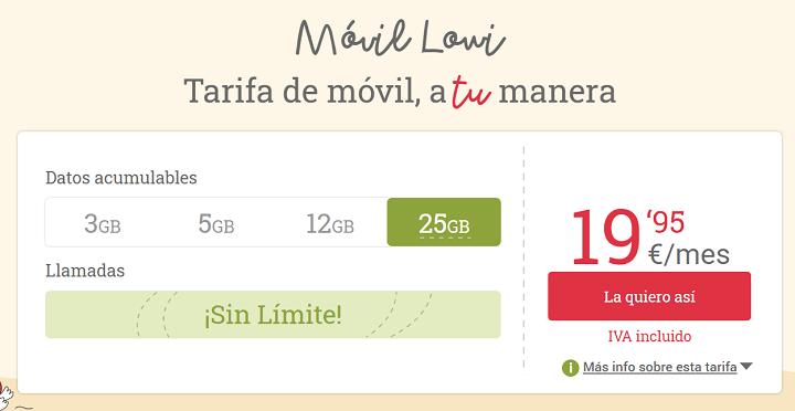 Imagen - Lowi mejora sus tarifas: llamadas sin límite y más gigas por el mismo precio