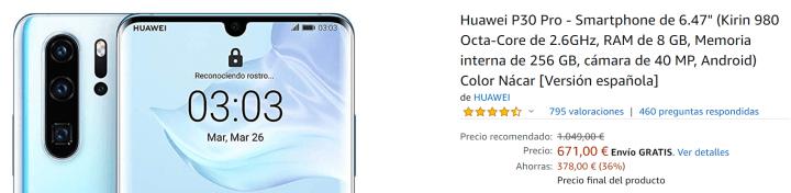 Imagen - Oferta: Huawei P30 Pro como regalo de Reyes con un ahorro de más de 340 €