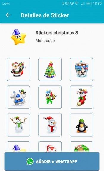 Imagen - 9 packs de stickers de Navidad para WhatsApp