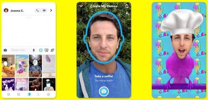 Imagen - Snapchat Cameo te permitirá añadir tu cara a un GIF