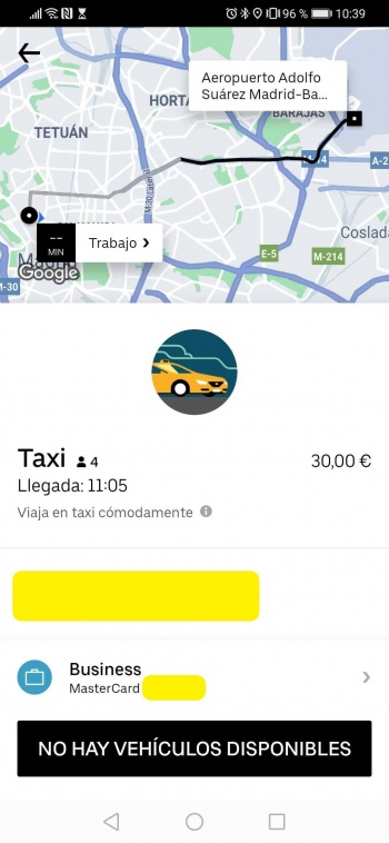 Imagen - Uber ya muestra taxis en su app