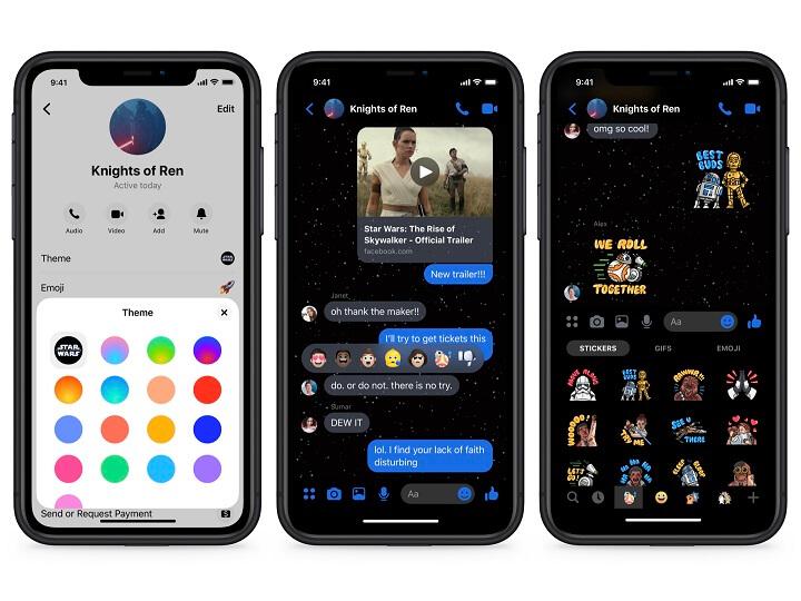 Imagen - Facebook Messenger añade filtros, stickers y temas de Star Wars: El ascenso de Skywalker