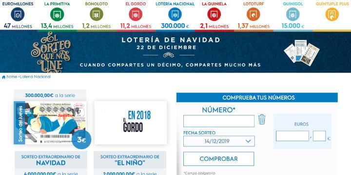 Imagen - Cómo comprobar online la Lotería de Navidad 2019