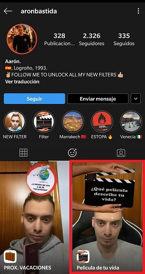 """Imagen - """"¿Qué película describe tu vida?"""" Así se activa el filtro de Instagram"""