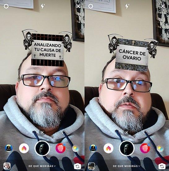 Imagen - Cómo poner el filtro con la causa de tu muerte en Instagram Stories