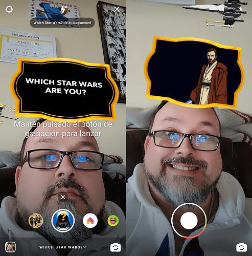 Imagen - ¿Qué personaje de Star Wars eres? Así se activa el filtro de Instagram