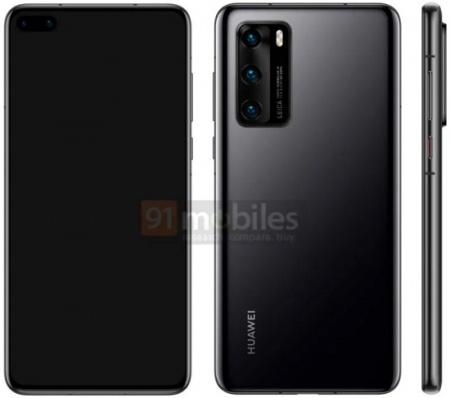 Imagen - Huawei P40 filtrado en imágenes: cámara dual frontal incrustada y sin jack de audio