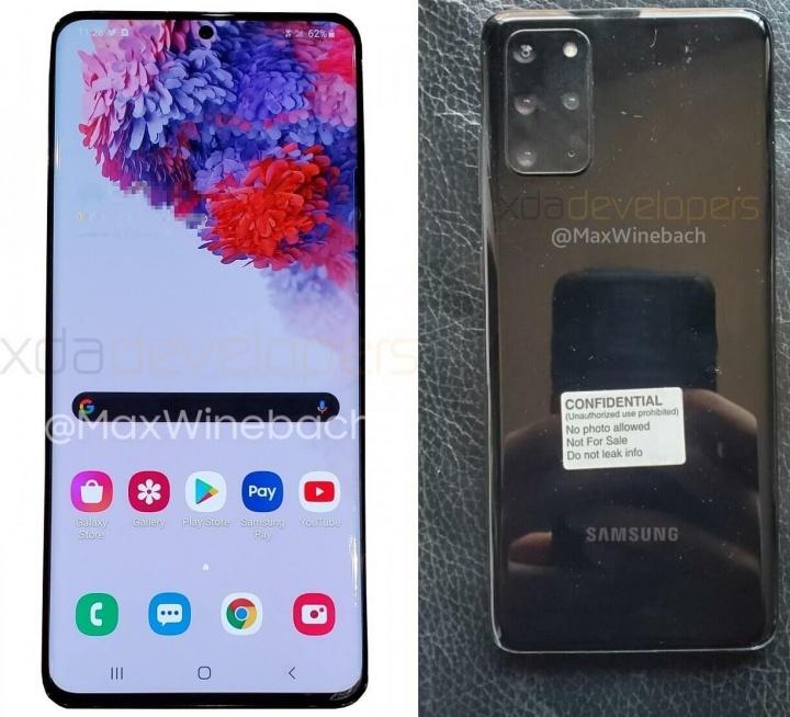 Imagen - Samsung Galaxy S20+ 5G se filtra: las imágenes confirman 4 cámaras y pantalla plana