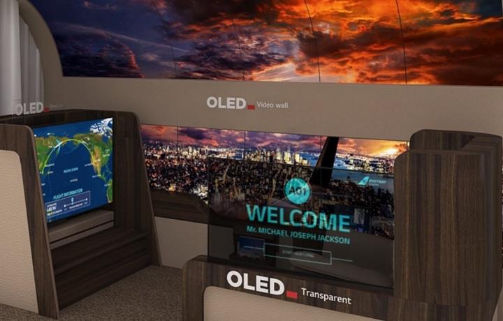 Imagen - LG prepara un televisor OLED flexible que se desenrolla desde el techo