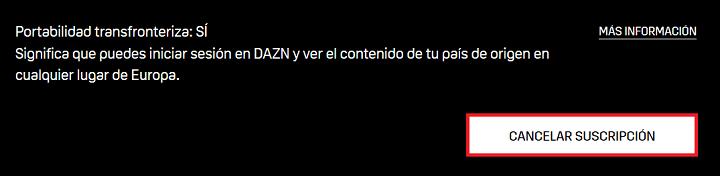 Imagen - Cómo cancelar DAZN