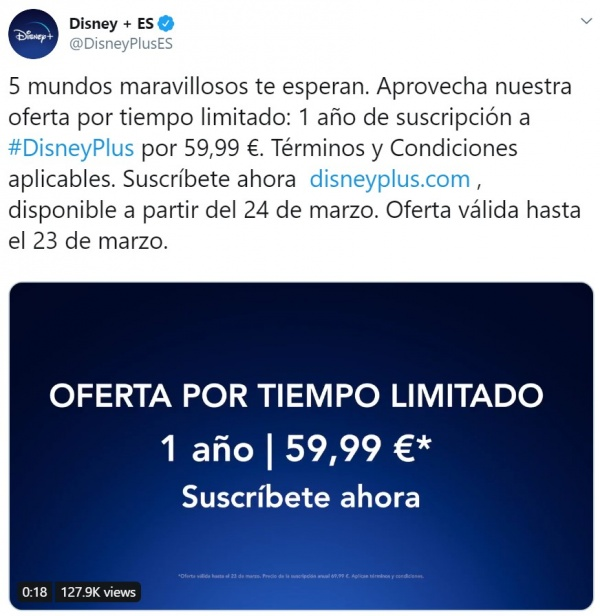 Imagen - Disney+ barato: oferta de 12 meses por 59,99 euros