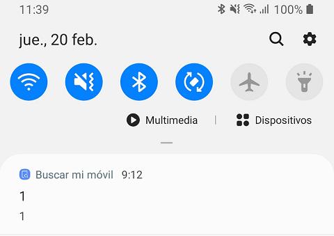 """Imagen - Notificación """"Buscar mi móvil"""" en Samsung, ¿qué significa?"""
