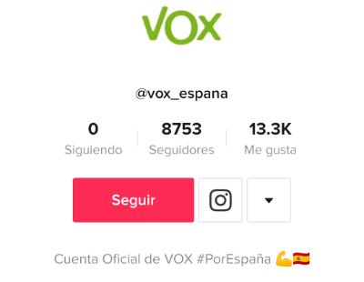 Imagen - Vox abre cuenta en TikTok