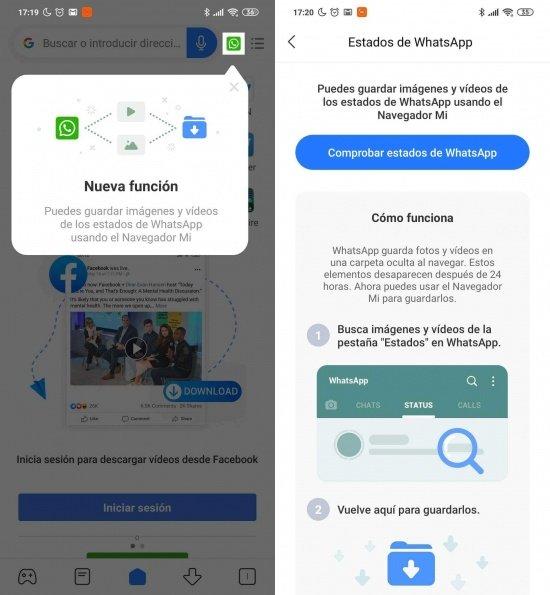 Imagen - Descarga Estados de WhatsApp con un Xiaomi