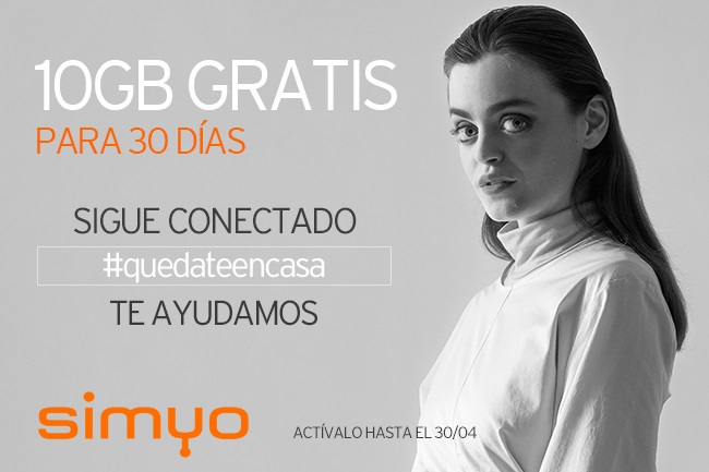 Imagen - Simyo regala 10GB por el coronavirus