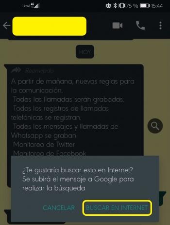 Imagen - WhatsApp te permitirá comprobar si el mensaje es un bulo