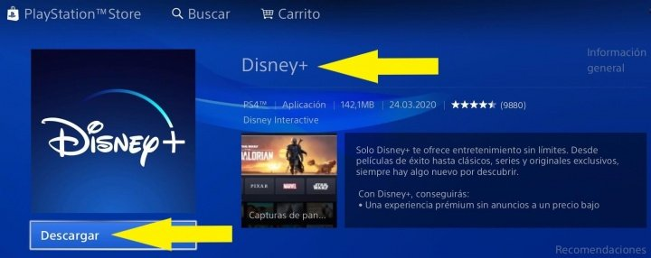 Imagen - Disney+ ya está disponible en PlayStation 4