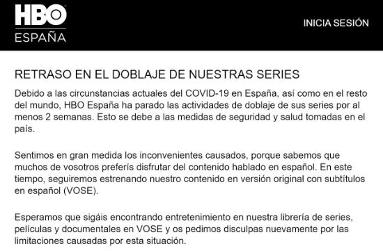 Imagen - HBO deja de doblar al español por el coronavirus