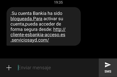 """Imagen - """"Su cuenta Bankia ha sido bloqueada"""", cuidado con la estafa"""