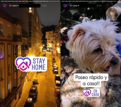 """Imagen - Cómo poner el sticker """"En casa"""" en Instagram"""