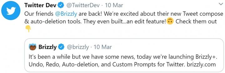 Imagen - Twitter promociona la edición de tweets