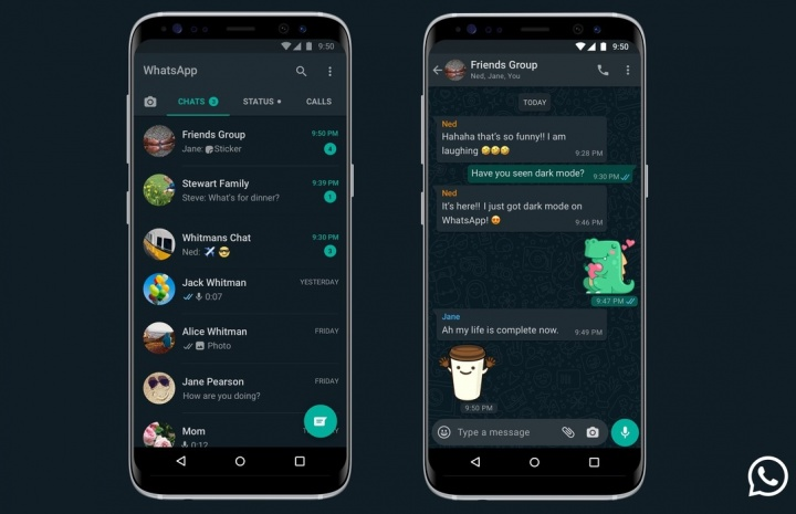 Imagen - Modo oscuro de WhatsApp llega a Android y iPhone