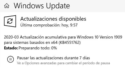 Imagen - Windows 10 KB4551762 corrige una seria vulnerabilidad