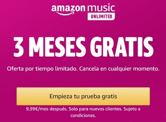 Imagen - Amazon Music Unlimited gratis por 3 meses